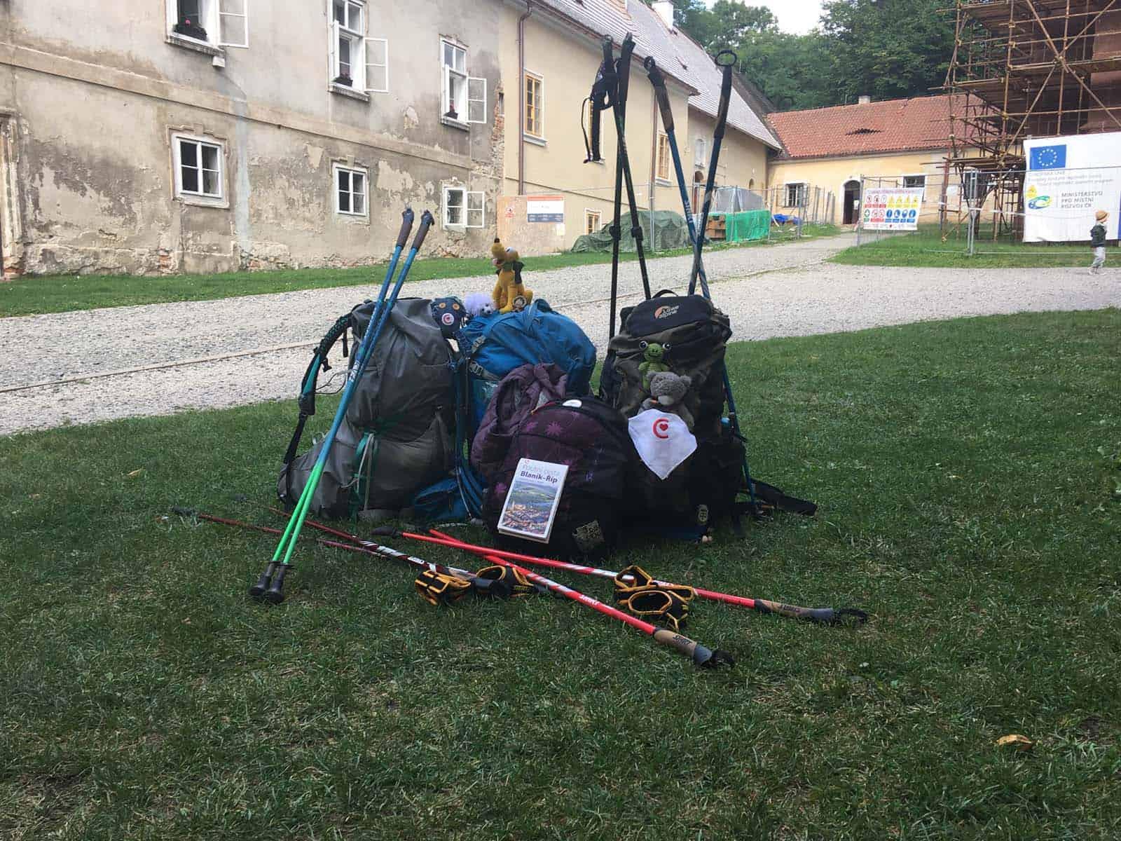 Momentka z akce Plzeňských hůlek